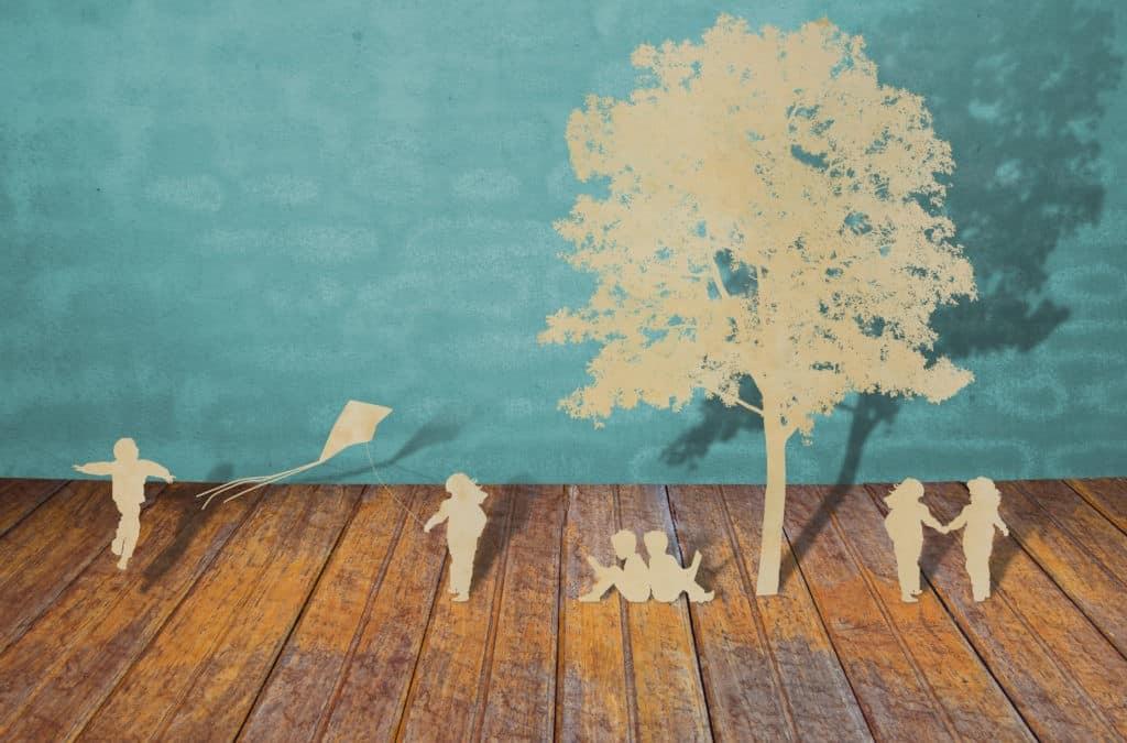 famiglia felice benessere e tempo libero